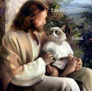 Jésus vs Grumpy cat